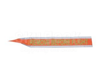 "Plane Sights™ R3241L Flagright Reflective Orange 4"" x 32"" Remove Before Flight Gear Pin Streamer"