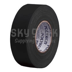 POLYKEN® 223 Black 48mm 10-MIL Multi-Purpose Duct Tape - 50 Meter Roll