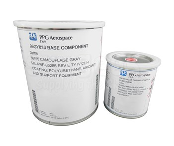 PPG Aerospace® Deft® 99GY033 FS#36495 Flat Gray MIL-PRF-85285E Type IV, Class H Spec Polyurethane Topcoat - Gallon Kit