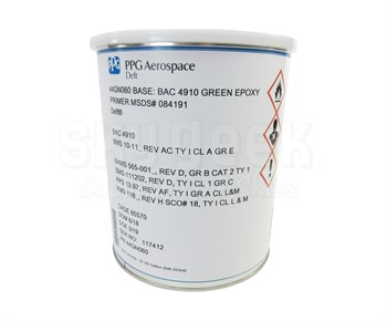 PPG Aerospace® Deft® 44-GN-60 BAC4910 Green BMS 10-11AC Ty I, Cl A, Gr E  Spec Water Reducible Epoxy Primer - 2:1 Gallon Kit