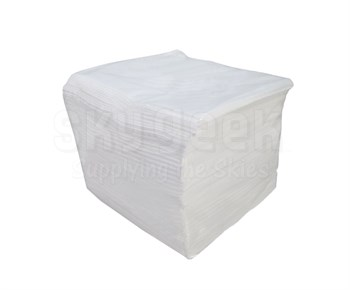 "Purewipe® WP-100 White BMS 15-5G, Class A & AMS 3819C, Class 1, Grade A, Form 1 Spec 55%/45% Polyester/Cellulose 12"" x 13"" Wipe - 100 Wipe/Pack"