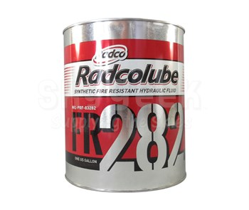 RADCOLUBE® FR282 Red MIL-PRF-83282D Spec Fire Resistant Hydraulic Fluid - Gallon Can