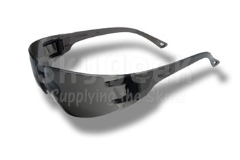 Radnor® 64051206 Classic Series Gray Frame with Gray Polycarbonate Anti-Scratch Lenses Safety Glasses