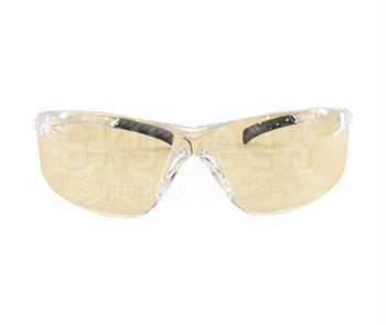 Radnor® 64051220 Classic Plus Series Clear Frame with Clear Polycarbonate Hard Coat Lenses Safety Glasses