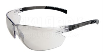 Radnor® 64051222 Classic Plus Series Gray Frame with Clear Polycarbonate Hard Coat Indoor/Outdoor Lenses Safety Glasses