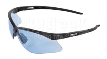 Radnor® 64051518 Premier Series Black Frame with Blue Polycarbonate Lens Safety Glasses