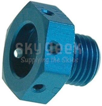 Aerospace Standard AS5169D05L Aluminum Drilled Head Plug, Machine Thread