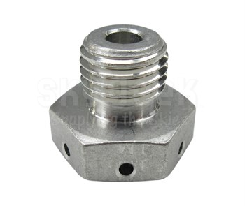 Aerospace Standard AS5169J04L Stainless Steel Drilled Head Plug, Machine Thread