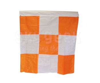 """Safety Flag APF2G Orange/White Checkered 36"""" x 36"""" with 2 Corner Grommets Airport Flag"""