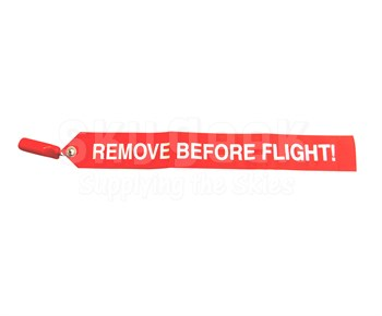 """Safeway Aviation 5800 Red Vinyl 5/8"""" Pitot Tube Cover"""