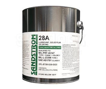 Sandstrom 28A Gray MIL-PRF-46147 Type I, Form 1, Color 1 / MIL-L-23398 Type I Spec Solid Film Lubricant - Gallon Can