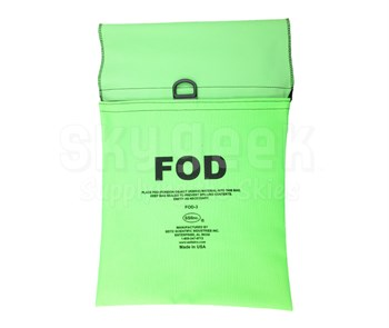 Seitz Scientific FOD-3 Fluorescent Green FOD Bag attaches to Maintenance Stand Hand Rail