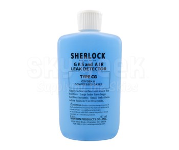 Sherlock CG-8S Type CG Pure Oxygen & Compressed Gas Leak 5-Second Detector - 8 oz Squeeze Bottle