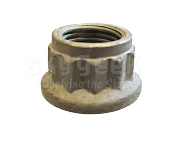 SPS Technologies 42FLW428 Steel Nut, Self-Locking, Extended Washer, Double Hexagon