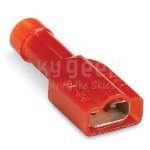Thomas & Betts 18RA-2577 Fully Insulated Nylon Female Disconnect - 100PK - Wire Range 22-18 - Length 0.97""