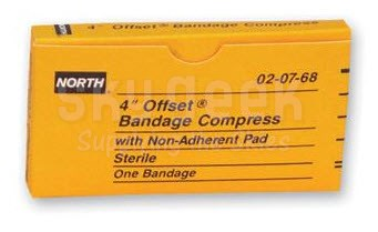 Swift First Aid North NOS020768 Latex-Free Sterile Offset Compress Bandage - 3""