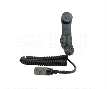 Military Specification H-250/U Black Microphone-Receiver Handset