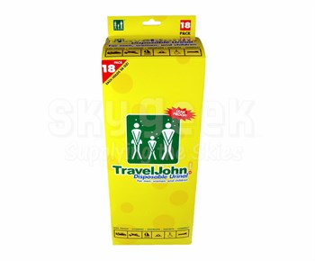 TravelJohn™ 66892 Disposable Urinals Deluxe - 18 Urinal/Pack