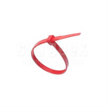 "Thomas & Betts TY525M-2 Ty-Rap Red 7.31"" Cable Tie - 100 Cable Tie/Pack"