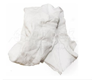 Y-Pers O130-25 New White Cotton T-Shirt Rags - 25 lb Case