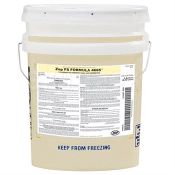 ZEP® 2890 FS Formula 4665™ Yellow Highly-Concentrated Chlorine Sanitizer & Deodorant - 5 Gallon Pail