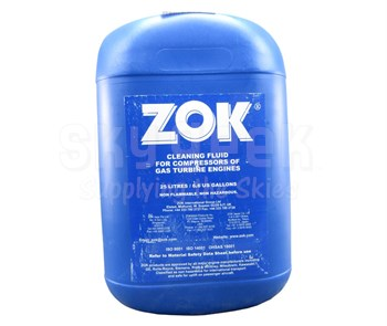 ZOK 27 Concentrate Yellow MIL-PRF-85704C Spec Gas Turbine Compressor Cleaning Fluid - 25 Liter (6.6 Gallon) Pail